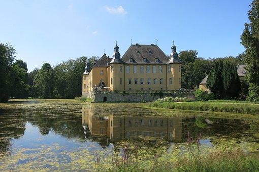 Schloss Dyck, Castle, Moat, Tourism, Park, Germany