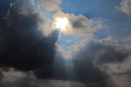 Sunbeam, Sun, Shadow, Light, Mood, Sky, Rays