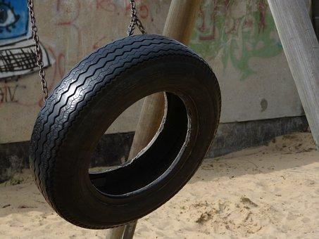 Tire Swing, Swing, Mature, Movement, Rocking Mature