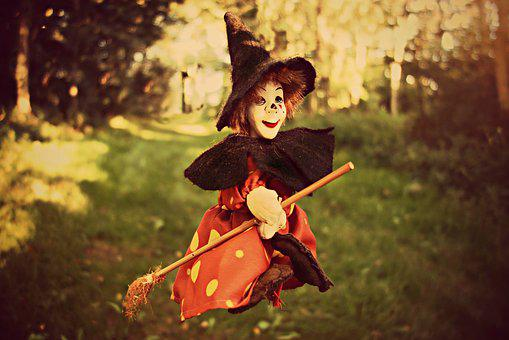Witch, Broom, Witch Hat, Doll, Toy, Toy Witch