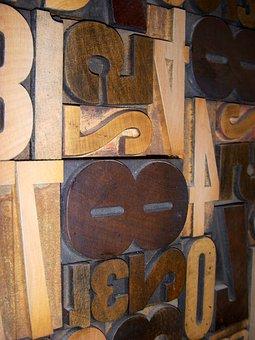 Wood Type, Printing, Letterpress, Typography, Block