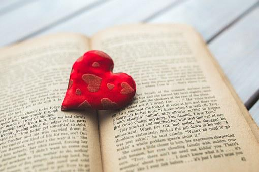 Heart, Love, Book, Reading, Words, Typo, Typography
