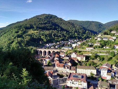 Hornberg, Railway Bridge, View From The Castle Hill