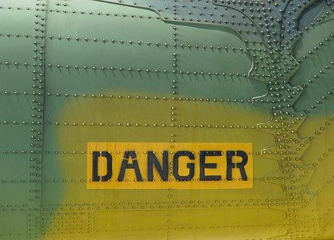 Danger, Military Aircraft, Metal, Army, Warning