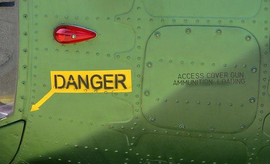 Danger, Military Aircraft, Gun Ammunition, Warning