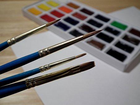 Brush, Watercolor, Paint, Color, Drawing, Art
