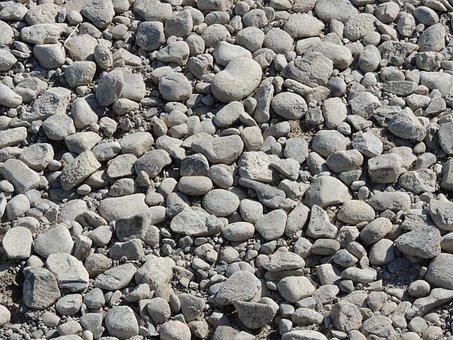 Stones, Pebble, Coarse, Nature, Bank, Gravel Bed