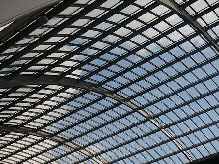 Glass, Modern, Architecture, Building, Windows, Air