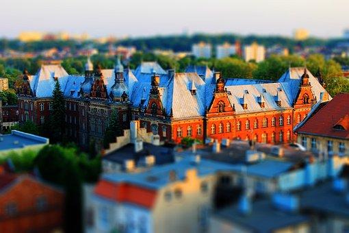 Bydgoszcz, Tilt Shift, A Thumbnail, Building