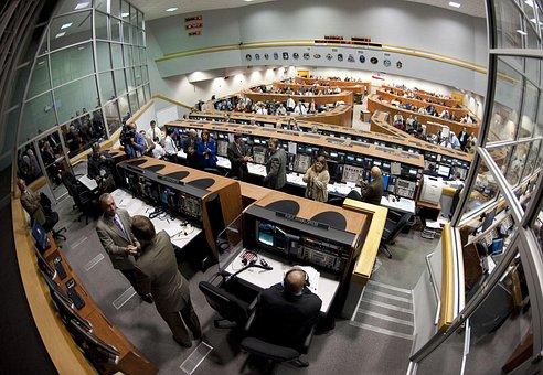 Launch Control, Cape Canaveral, Florida, Nasa, Console