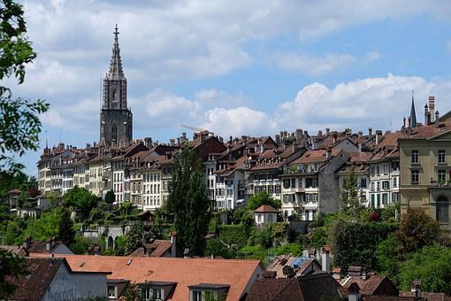 Bern, Church, Münster, Panorama, Architecture