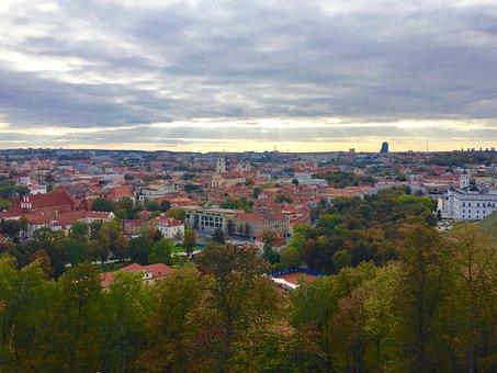 Vilnius, Lithuania, City, Town, Europe, Capital, Baltic