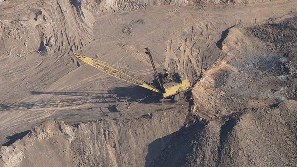 Dragline, Mining, Coal Mining, Machine, Quarry, Coal