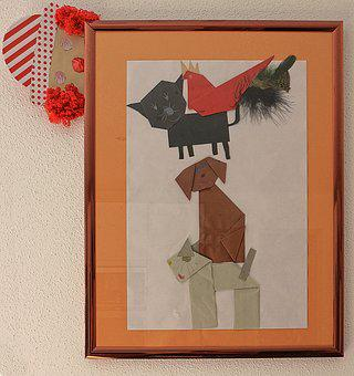 Children Picture, Do It Yourself, Origami