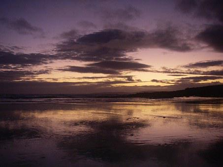 Ireland, Sea, Evening Sky, Beach, Booked, Mood, Dingle