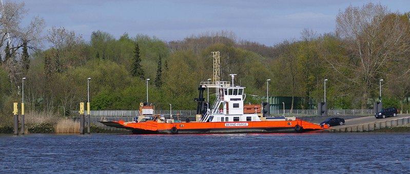 Ferry, Car Ferry, Ship, Water, Crossing, Transport