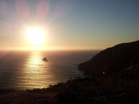 Fisterra, Sunset, Galicia, Moon, Lighthouse, Cape