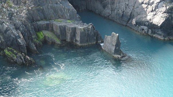 Ireland, Lagoon, Cliffs, Water, Kerry Ring