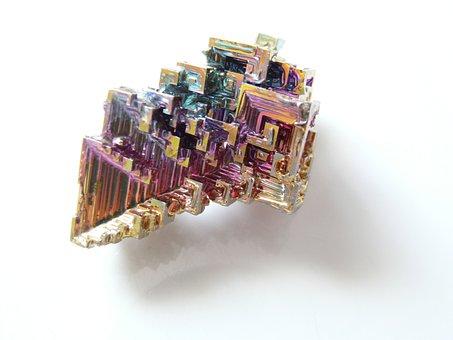 Mineral, Iridescent, Bismuth, Bismuth Crystal