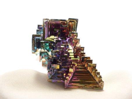 Glazed Includes, Mineral, Iridescent, Bismuth
