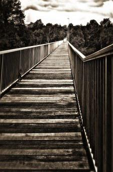 Bridge, Long Gone, Loneliness, Sepia, Mourning, Leave