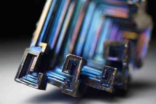 Bismuth, Bismuth Crystal, Tint, Metal, Semi Metal