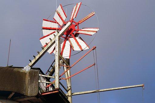 Mill, Windmill, Grind Grain, Sky, Wing, Dutch