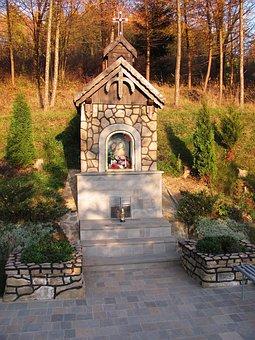 Chapel, Forest, Landscape, Tree, Nature, Autumn, Konary