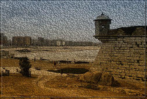 Defensive Wall, Old Wall, Turret, Figure, Mood