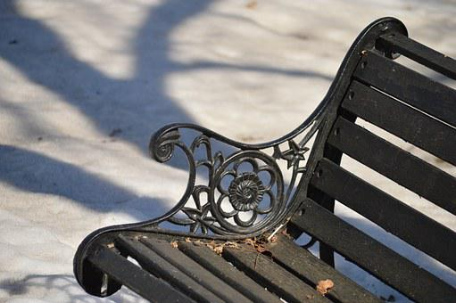 Bench, Sit, Metal, Wood, Park, Outdoor, Leisure