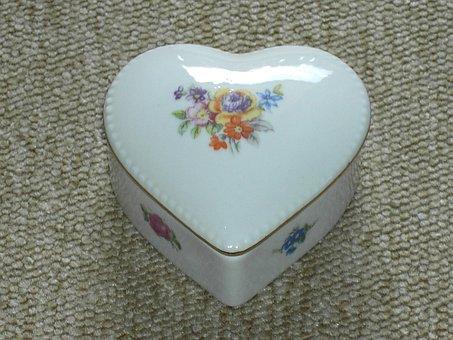 Tableware, Heart, Porcelain, Romance, Love, Pastries