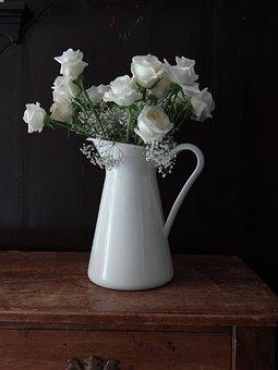Roses, Still Life, Porcelain, Romantic