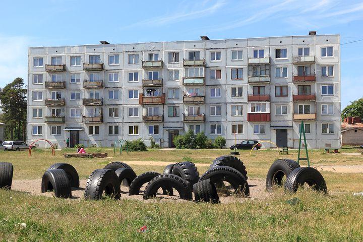 Latvia, Karosta, Russian, Housing, Flats, Residential
