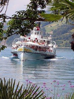 Thun, Lake Thun, Lake, Alpine, Switzerland, Water, Ship