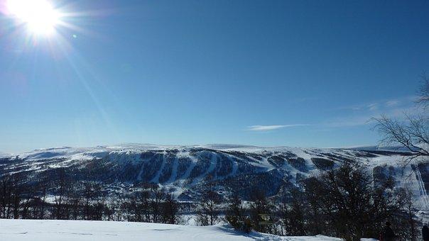 Mountain, Ski Slope, Ski Slopes, Ramundberget, Snow