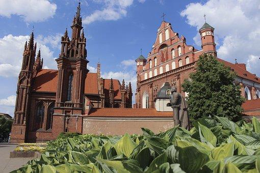 Vilnius, Church, St Anne, Monastery, Sky, Hell