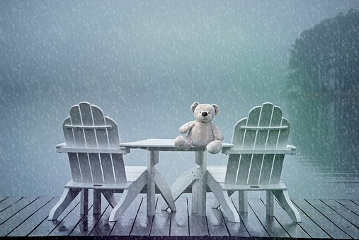 Still, Teddy Bear, Lonely, Forget, Lake, Chairs, Leave