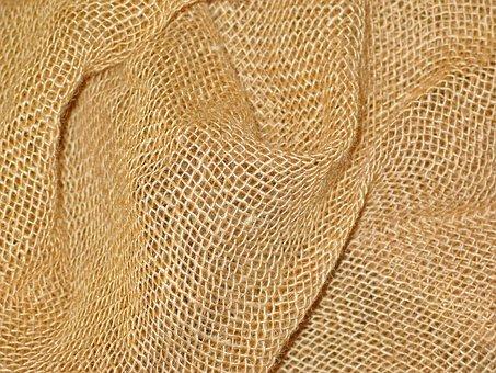 Jute, Jute Bag, Fibers, Structure, Close, Tissue