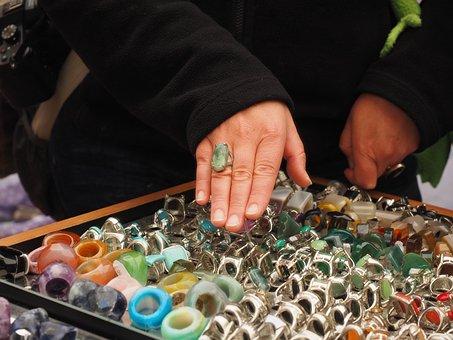 Shopping, Ring, Fitting, Finger Ring, Hand, Try On