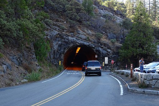 Tunnel, View, Yosemite, National Park, Rock Formation