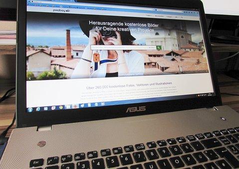 Notebook, Web Page, Laptop, Internet, Pixabay, Asus