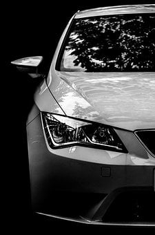 Car, New, Light, Detail, Auto, Fast, White, Race