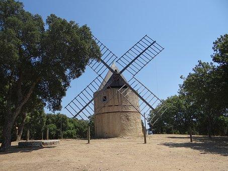 Mill, Windmill, Wings, Old, Grain, Architecture, Calm