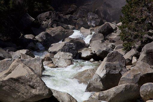 Yosemite, River, Nature, Water, Usa, Park, National