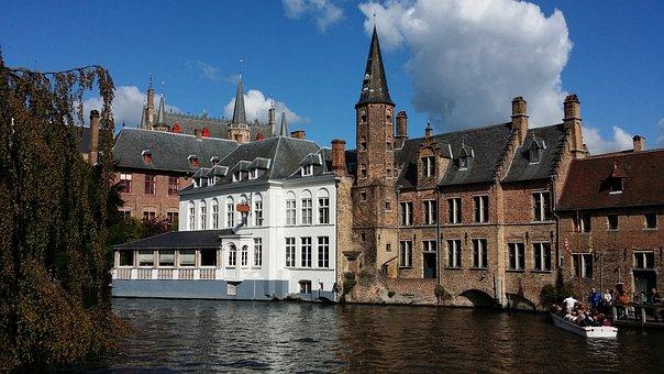 Brugge, Belgium, Canals In Belgium