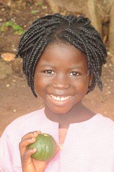 Girl, Child, Bubaque, Africa, Black, Guinea, Culture