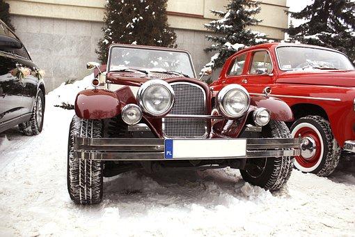 Retro Car, Chrysler Le Baron Convertible, Wedding Car