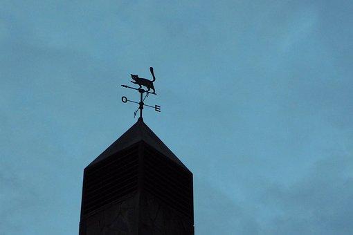 Veleta, Cat, Wind, Clouds, Fireplace, Sky, Compass Rose