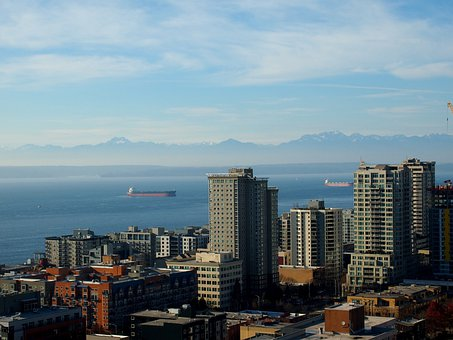 Seattle, Bay, Puget Sound, Elliot Bay, Washington