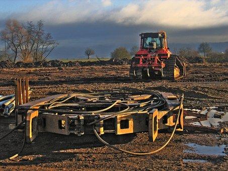 Demolition, Work, Excavators, Construction, Site, Earth